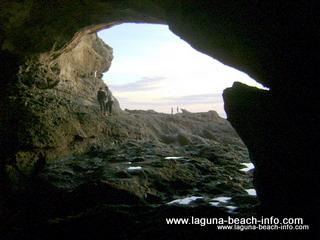 Cave at Thousand Steps Beach 1000 steps beach, Laguna Beach, California