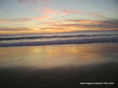 Sunset at Thousand Steps Beach, 1000 Steps Beach, Laguna Beach, California
