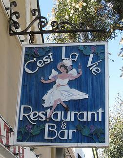 C'est La Vie Dining, Laguna Beach French Restaurants - Laguna Beach Information, California