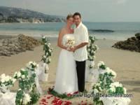 Doss Beach Wedding on the sand at Main Beach, Laguna Beach Weddings