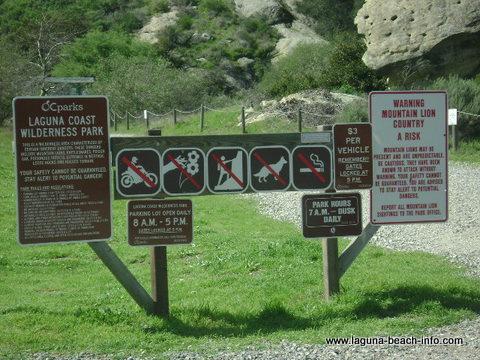 Willow Canyon Parking, Laguna Coast Wilderness Park, Laguna Beach Hiking Trails