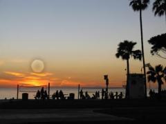 Main Beach at Sunset by Deborah Sussex, Laguna Beach, Orange County, California