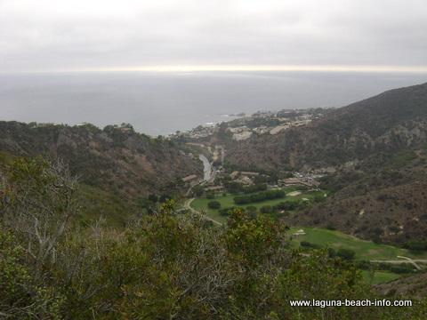 Aliso Golf Course from St Tropez Trail: Laguna Beach Hiking Trail