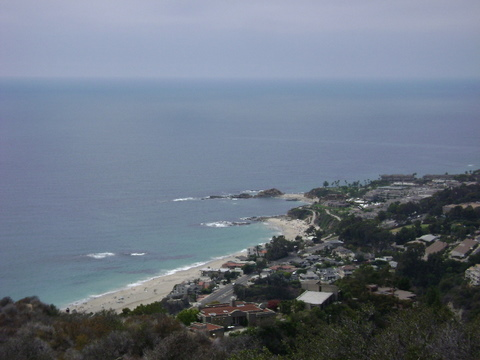 Aliso Beach from Aliso Peak Trail in Laguna Beach