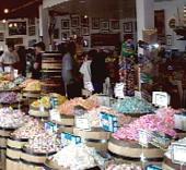 Candy Baron Buckets in Laguna Beach Candy Store