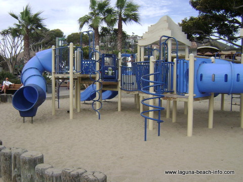 Childrens playground at Main Beach, Laguna Beach, California