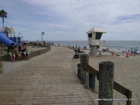 boardwalk at Main Beach, Laguna Beach, California