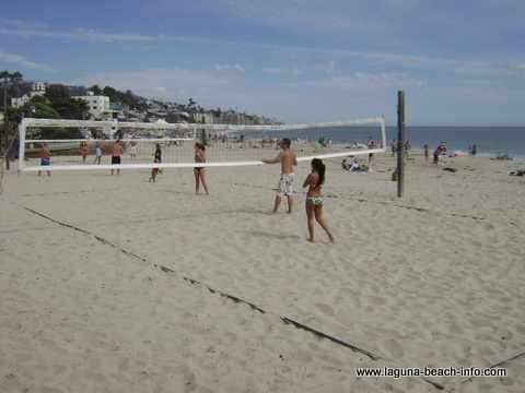 Volleyball at Main Beach, Laguna Beach, California