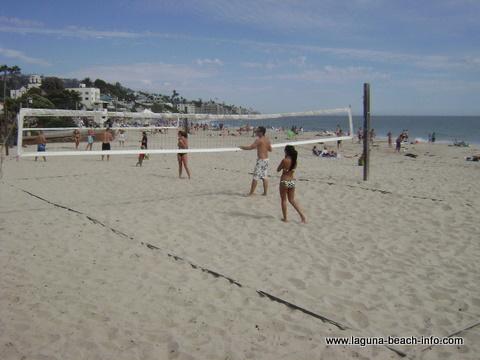 Volleyball at Main Beach, Laguna Beach, California