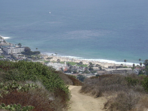 Main Beach from Water Tank Trail in Laguna Beach
