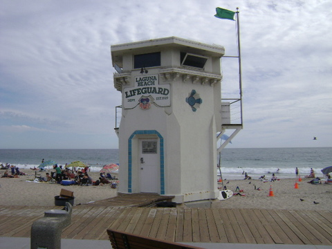 Main Beach Lifeguard Tower, Laguna Beach, Orange County, California