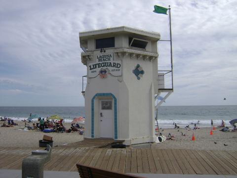 Main Beach Lifeguard Tower, Laguna Beach, Orange County, California