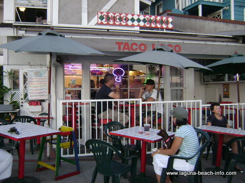 Taco Loco, casual mexican food, laguna beach dog friendly restaurants