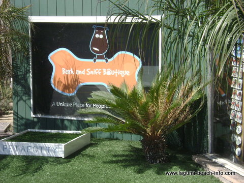 Bark and Sniff Boutique- pet store, Laguna Beach, California