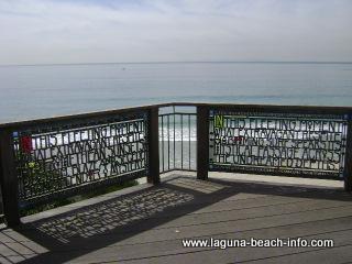 Brown's Park stained glass fence art overlook, Laguna Beach Parks