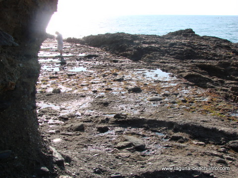 Entrance to the tidepools at Crescent Bay, Laguna Beach tidepools