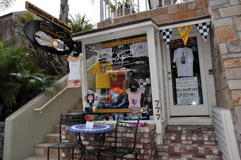 EuroPapi: Laguna Beach Motorcycle Clothing and Accessories, Laguna Beach Shops, Laguna Beach, California