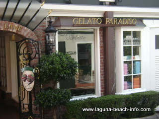 Gelato Paradiso, Italian Ice Cream Treats, Laguna Beach Shops, California