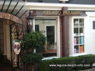 Gelato Paradiso, Italian Ice Cream Treats, Laguna Beach Shops, California