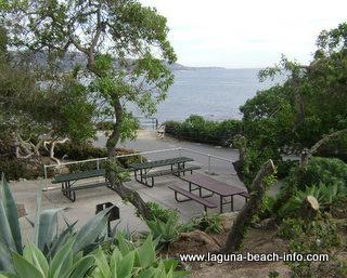 Picnic Tables overlooking the ocean, Heisler Park Laguna Beach