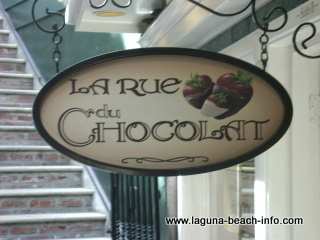 La Rue Du Chocolat Chocolate Sweets and Treats, Laguna Beach Shops, California