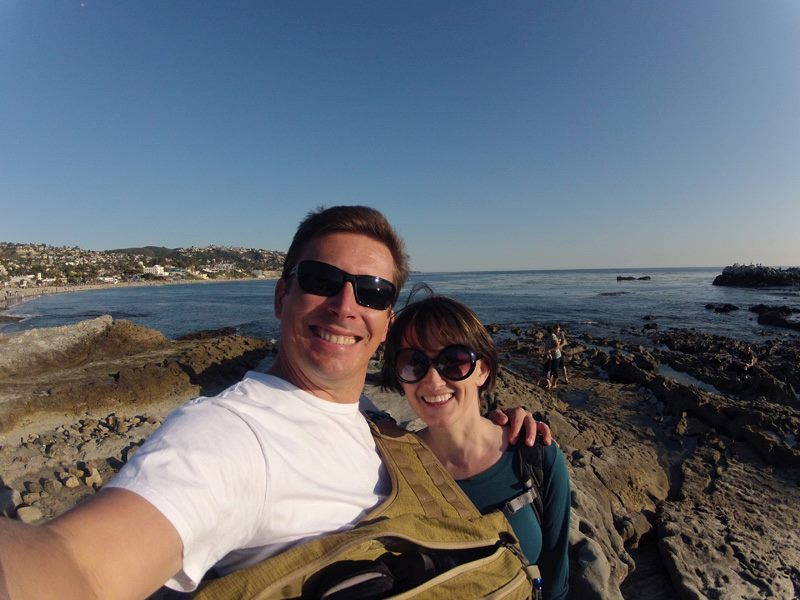Chris and Sarah at Main Beach, Laguna Beach, Orange County, California