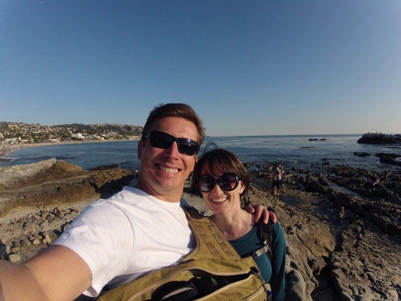 Chris and Sarah at Main Beach, Laguna Beach, Orange County, California
