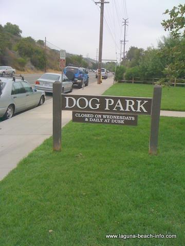 Laguna Beach Dog Park Sign
