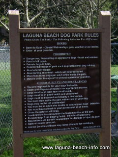 Laguna Beach Dog Park Rules