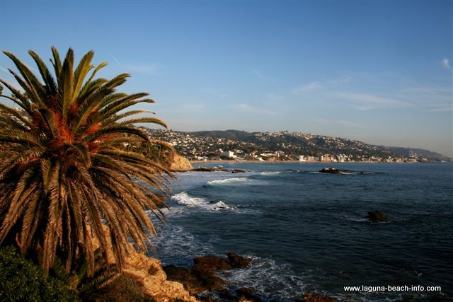 View of Main Beach from Heisler Park, Laguna Beach, Orange County, California