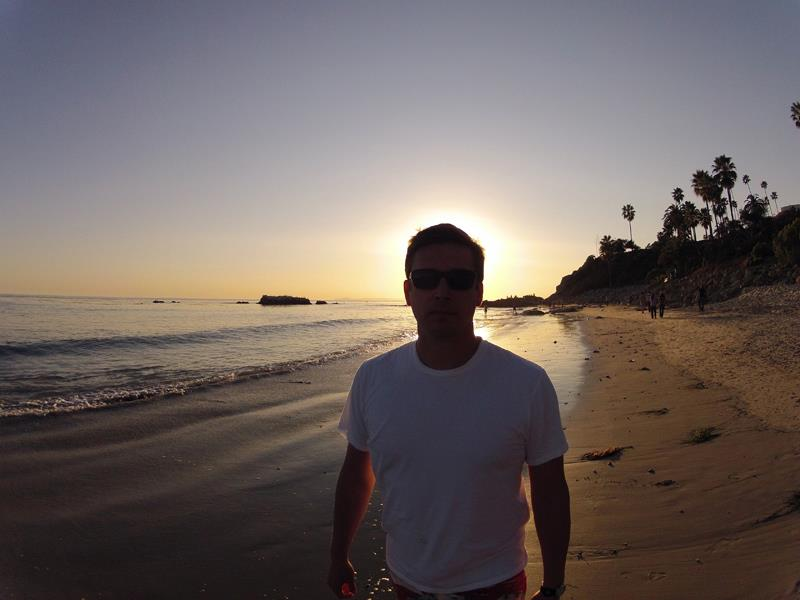 Chris Bonomo at Main Beach, Laguna Beach, Orange County, California