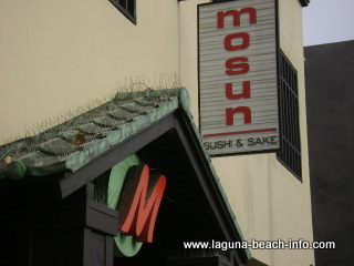 Mosun Sushi Saki Bar and Club M Nightclub, Japanese Dining Laguna Beach Restaurants