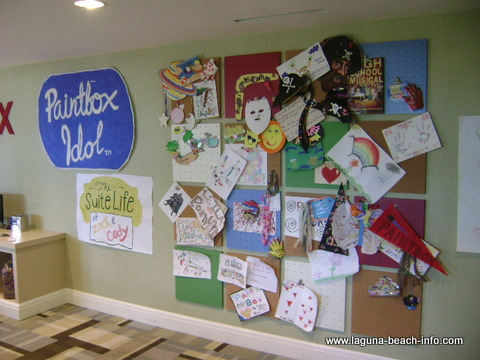 Paintbox for kids at The Montage Laguna Beach Resort