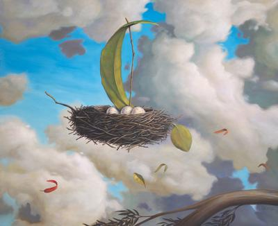 A favorable Wind - 22 x 27 Oil on Panel<br>by Paul Bond