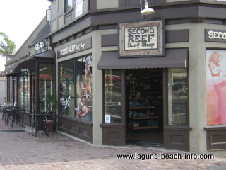 Second Reef Surf Shop, Laguna Beach Shops, bathings suits wetsuits, California