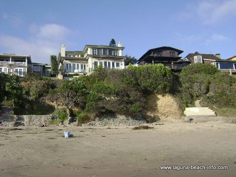 Houses at Shaws Cove Laguna Beach, California