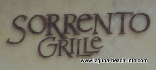 Sorrento Grille Restaurant, Laguna Beach Restaurants