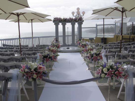 Laguna beach cliff wedding