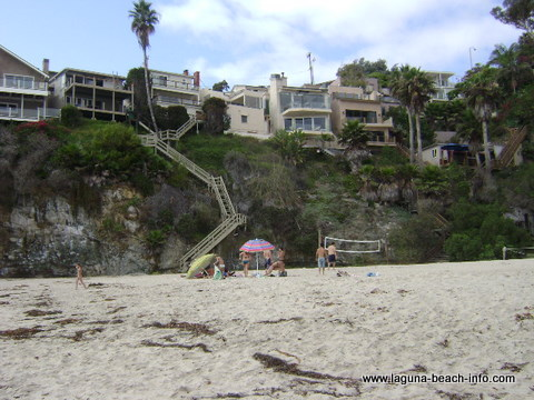 Volleyball at Thousand Steps Beach, Laguna Beach, California