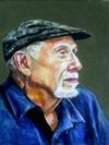 Artist in Cap<br>by Renuka Pillai