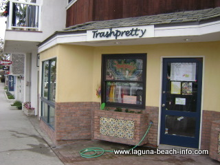 trash pretty vintage clothing store art gallery, laguna beach shops