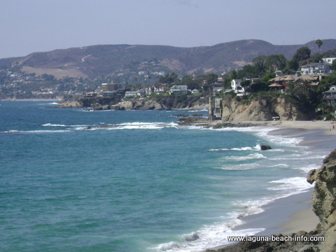 Victoria Beach and Laguna Coastline from The Montage Laguna Beach Resort