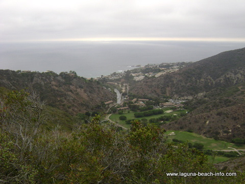 Aliso Golf Course from St Tropez Trail: Laguna Beach Hiking Trail