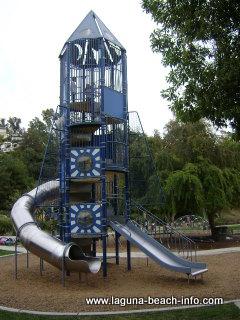 Historic rocketship at Bluebird Park, laguna beach parks